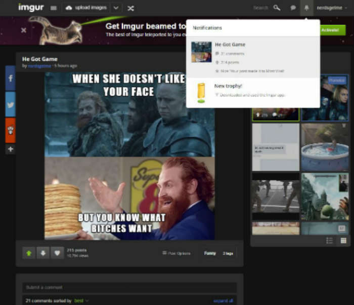 what it looks like when you go viral on imgur