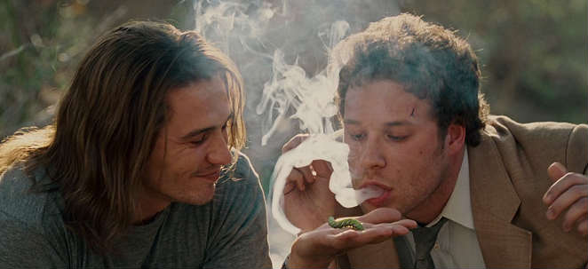 dale and saul get high in pineapple express